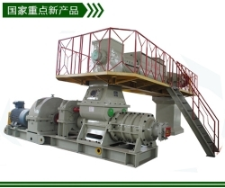 Two-stage vacuum extruder