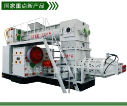 Heavy two stage vacuum extruder